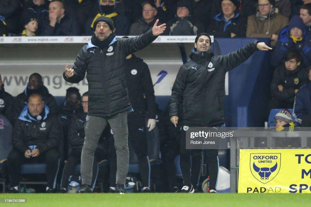Oxford United v Manchester City - Carabao Cup: Quarter Final : ニュース写真