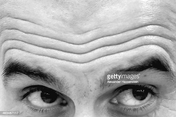 Josep Guardiola head coach of Bayern Muenchen looks on during a press conference after the friendly match between Red Bull Salzburg and FC Bayern...