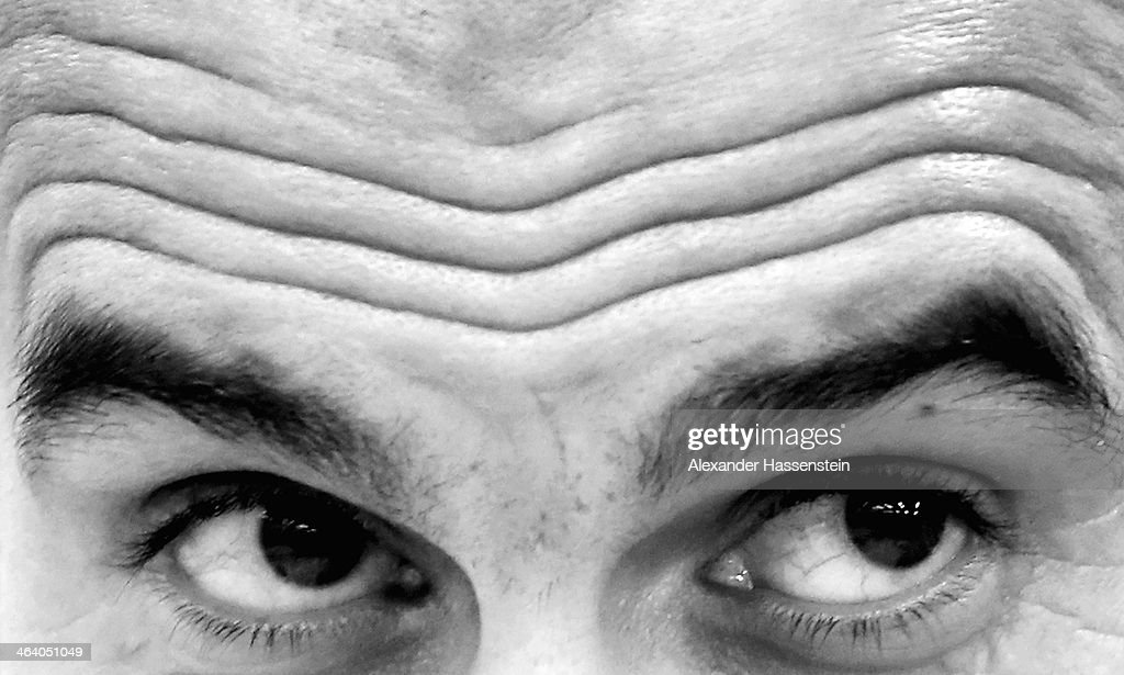Josep Guardiola, head coach of Bayern Muenchen looks on during a press conference after the friendly match between Red Bull Salzburg and FC Bayern Muenchen at Red Bull Arena on January 18, 2014 in Salzburg, Austria.