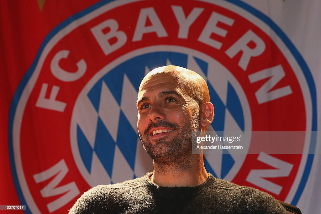 Pep Guardiola Visits FC Bayern Fan Club Glonn94