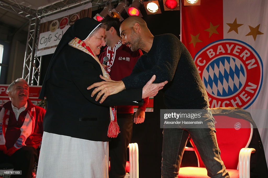 Pep Guardiola Visits FC Bayern Fan Club Glonn94 : News Photo