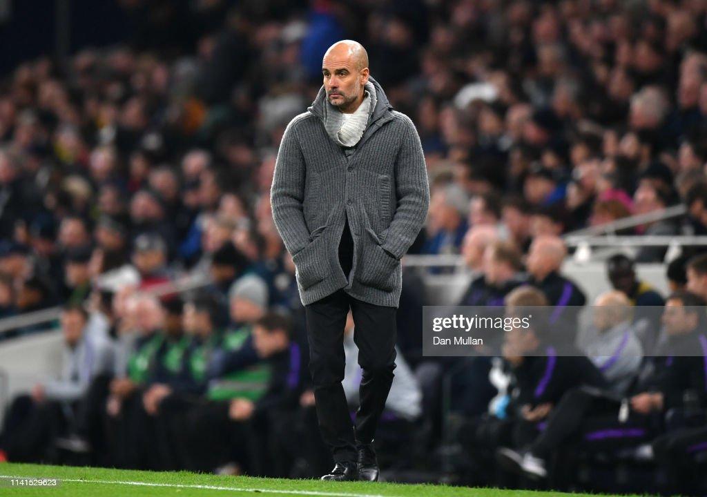 Tottenham Hotspur and Manchester City - UEFA Champions League Quarter Final: First Leg : Nachrichtenfoto