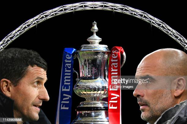 COMPOSITE OF IMAGES Image numbers 7303584310765505441141519827 In this composite image a comparison has been made between Javi Gracia Manager of...