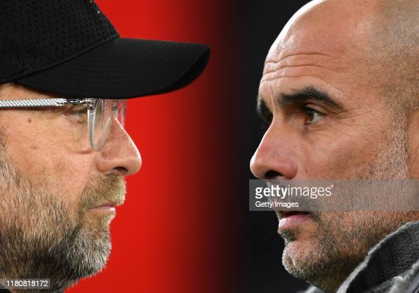 COMPOSITE OF IMAGES Image numbers 11406404991141519827 GRADIENT ADDED In this composite image a comparison has been made between Jurgen Klopp Manager...
