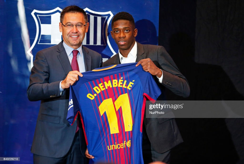 Presentation of Ousmane Dembele as new player of the PC Barcelona : News Photo