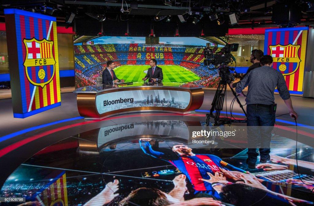 FC Barcelona President Josep Maria Bartomeu Interview : News Photo