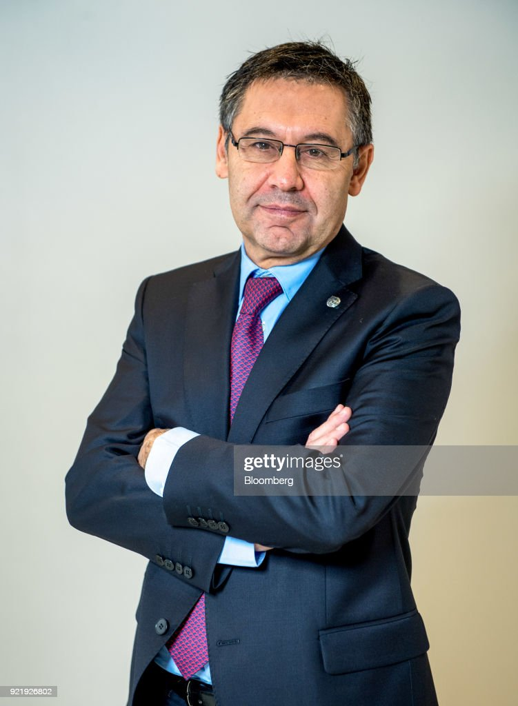 Josep Maria Bartomeu, president of FC Barcelona, poses for a photograph following a Bloomberg Television interview in London, U.K., on Tuesday, Feb. 20, 2018. Barcelona is likely to reach its goal of 1 billion euros ($1.2 billion) in sales ahead of schedule as income from broadcast rights and tickets surges, Bartomeu said. Photographer: Chris J. Ratcliffe/Bloomberg via Getty Images
