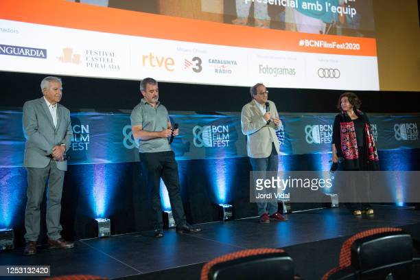 Josep Maria Vives Jaume Collboni the President of Generalitat de Catalunya Quim Torra and BCN Film Festival director Contxita Casanova attend...