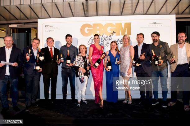 Josep Pedrerol Albert Luque Laura Falcó Lara Fernando Giner and Rubén de la Red attends 'Get Best Give Most' Charity Party on June 19 2019 in Madrid...