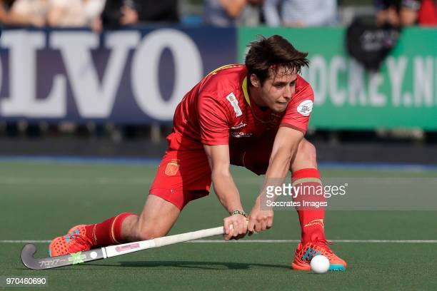 Josep Romeu of Spain during the match between Holland v Spain Rabo Super Serie 2018 at the Alkmaarsche MHC on June 9 2018 in Alkmaar Netherlands