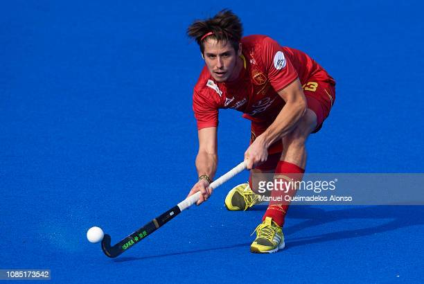 Josep Romeu of Spain in action during the Men's FIH Field Hockey Pro League match between Spain and Belgium at Polideportivo Virgel del CarmenBetero...