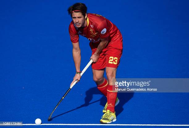 Josep Romeu of Spain looks on during the Men's FIH Field Hockey Pro League match between Spain and Belgium at Polideportivo Virgel del CarmenBetero...