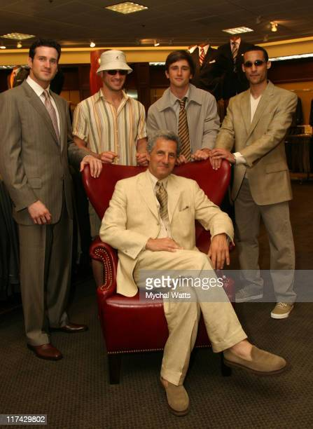 Joseph Abboud with models wearing fashions from Nordstrom