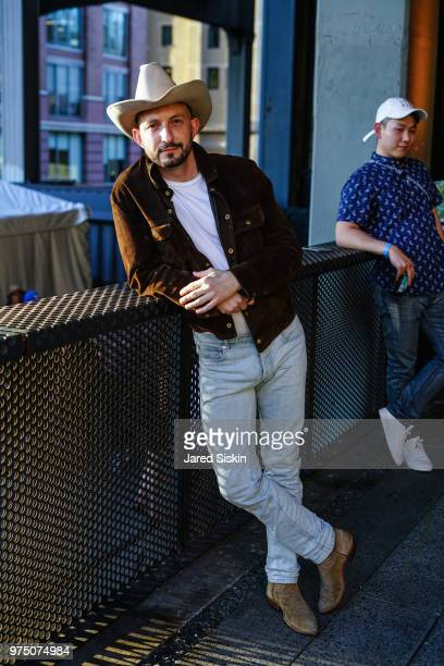 Joseph Akel attends the 2018 High Line Hat Party at the The High Line on June 14 2018 in New York City