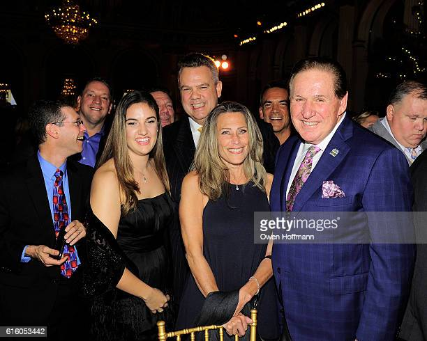 Joseph Anile Amadea Anile John Schmitt and Guests attend An Evening Honoring Joe Namath at The Plaza Hotel on October 20 2016 in New York City