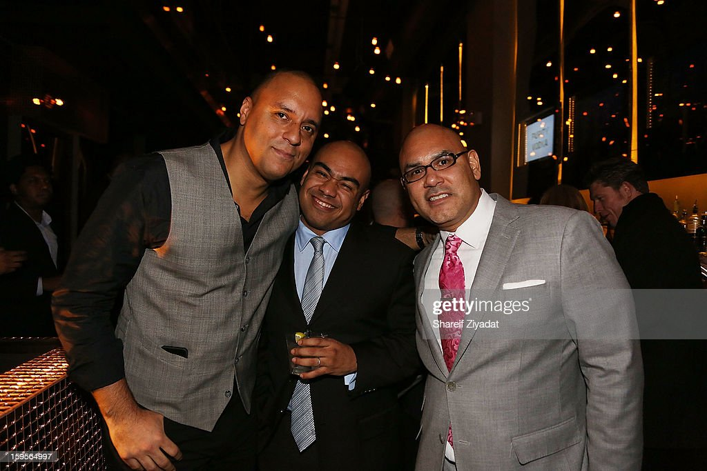 Joseph Anthony, Paul Estevez and Tony Martinez attend the opening of EVR 54 on January 15, 2013 in New York City.