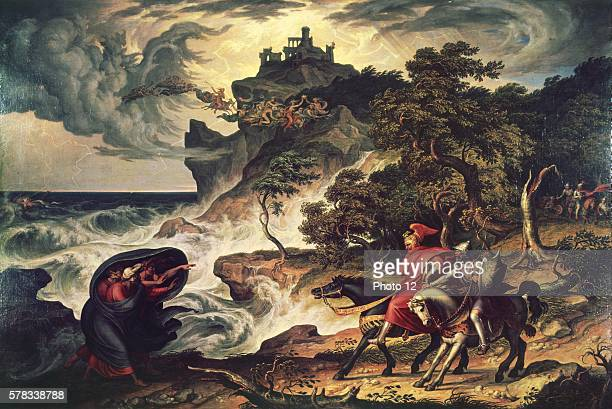 Joseph Anton Koch Austrian school Macbeth and the Witches 18341835 Oil on canvas Basel Kunstmuseum