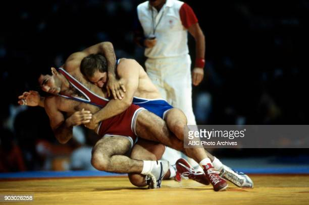 Joseph Atiyeh Lou Banach Men's Wrestling competition Anaheim Convention Center at the 1984 Summer Olympics August 7 1984