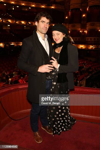 Joseph Bates and Alice Temperley attend 'La Boheme' at the English National Opera on January 29 2019 in London England