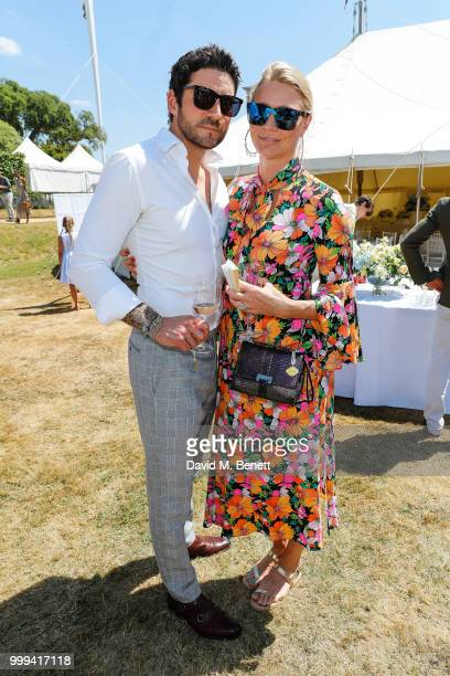 Joseph Bates and Jodie Kidd attend Cartier Style Et Luxe at The Goodwood Festival Of Speed Goodwood on July 15 2018 in Chichester England