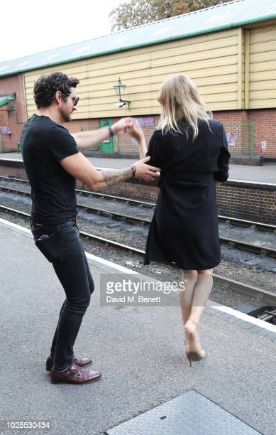 Joseph Bates and Jodie Kidd attend KRUG Encounters Tracks on Tracks curated by Jools Holland on August 31 2018 in London United Kingdom