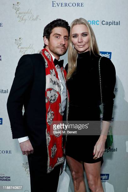 Joseph Bates and Jodie Kidd attend the 13th annual Emeralds Ivy Ball in partnership with Cancer Research UK and The Marie Keating Foundation at Old...