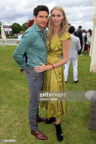 Joseph Bates and Jodie Kidd attend The Cartier Queen's Cup Polo Final 2019 on June 16 2019 in Windsor England