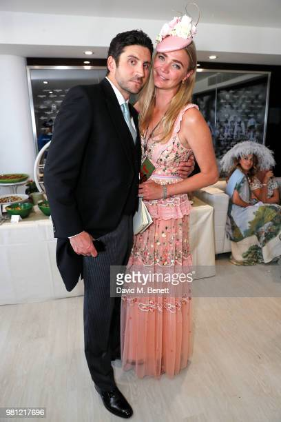Joseph Bates and Jodie Kidd attend the Longines suite in the Royal Enclosure during Royal Ascot on June 22 2018 in Ascot England