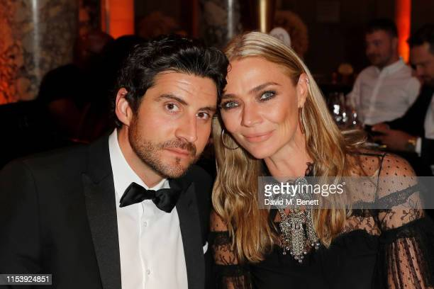 Joseph Bates and Jodie Kidd attends the Cash Rocket Masquerade Ball Auction Gala to celebrate the start of the allfemale charity drive event Cash...