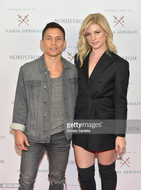 Joseph Benavidez and Ilaria Urbinati attend Strong Suit by Ilaria Urbinati Launch Party at Nordstrom Local in Los Angeles on April 26, 2018.