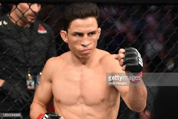 Joseph Benavidez is introduced prior to facing Deiveson Figueiredo in their flyweight championship bout during the UFC Fight Night event at Chartway...
