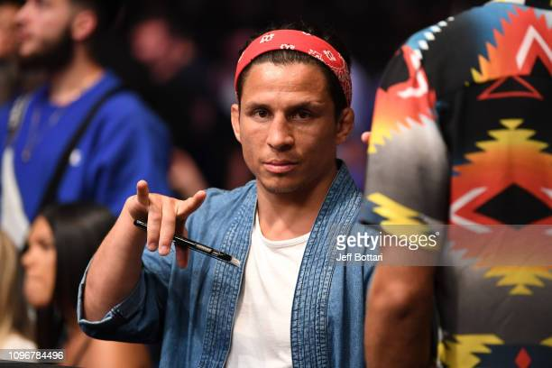 Joseph Benavidez is seen during the UFC 234 at Rod Laver Arena on February 10, 2019 in the Melbourne, Australia.