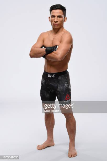 Joseph Benavidez poses for a portrait during a UFC photo session on February 26, 2020 in Norfolk, Virginia.