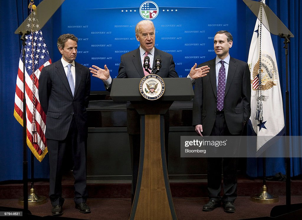 VP Biden Holds Recovery Act Event With Geithner And IRS Head Shulman
