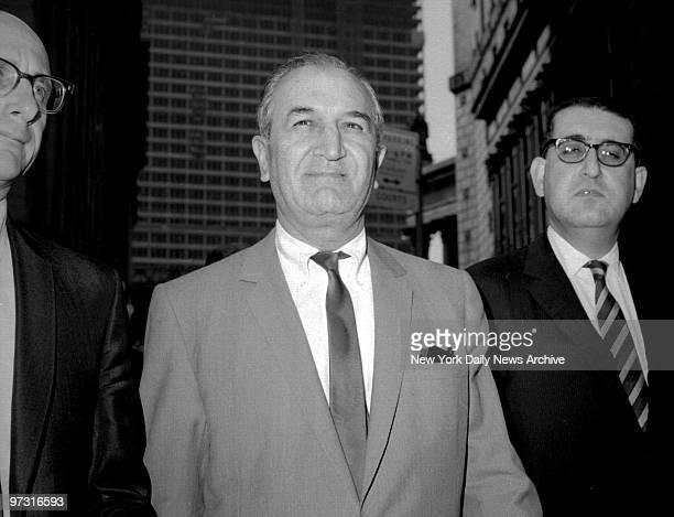 Joseph Bonanno leaving US Federal Court with his attorney Albert Krieger