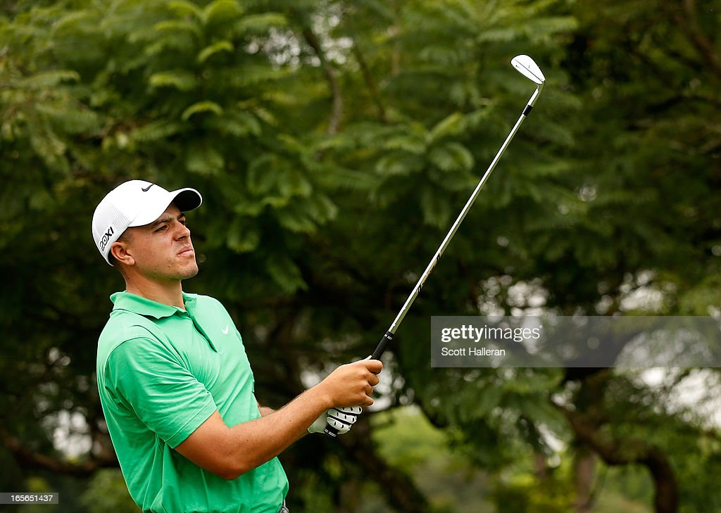 Joseph Bramlett of the USA hits a shot during the pro-am at the Sao Paulo Golf Club prior to the start of the Brasil Classic Presented by HSBC on April 3, 2013 in Sao Paulo, Brazil.