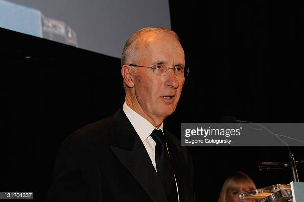 Joseph Campinell retired President of the Consumer Products Division L'Oréal USA speaks at L'Oreal Paris Legends Gala to Benefit Ovarian Cancer...