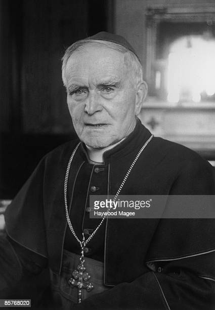 Joseph Cardinal MacRory Cardinal Archbishop of Armagh 25th October 1941 Original publication Picture Post 835 De Valera pub 1941