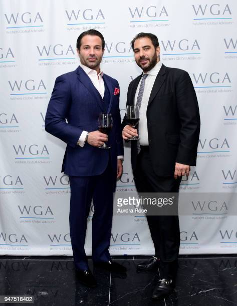 Joseph Casucci and Nick Andreottola attend Launch Of New Entity Withers Global Advisors at 432 Park Avenue on April 3 2018 in New York City Joseph...