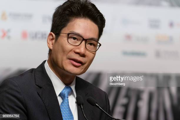 Joseph Chan Hong Kong's under secretary for Financial Services and the Treasury speaks during the LME Asia Week Seminar organized by London Metal...