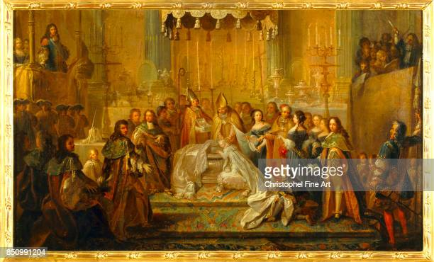 Joseph Christophe Baptism of the Dauphin Louis XIV's Son in the courtyard of the Old Castle of SaintGermainenLaye March 24th 1668 Oil on canvas 041 x...