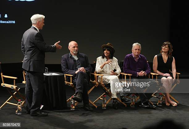 Joseph Cirincione Eric Schlosser Smriti Keshari Michael Douglas and Emma Belcher take part in Tribeca Talks What We Talk About When We Talk About The...