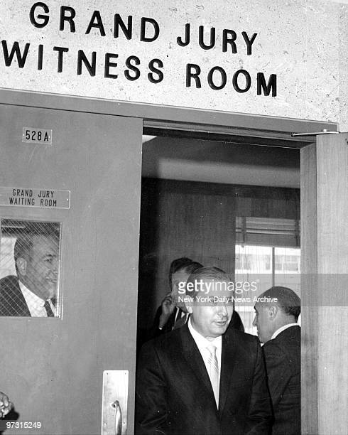 STATES Joseph Colombo leaves Queens Grand Jury courtroom 3rd October 1966