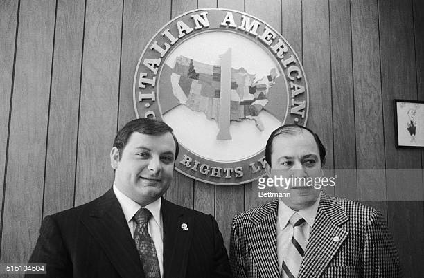 Joseph Colombo Sr who since 1963 has been accused by federal authorities of heading a Brooklyn crime family sits at his desk during an interview in...