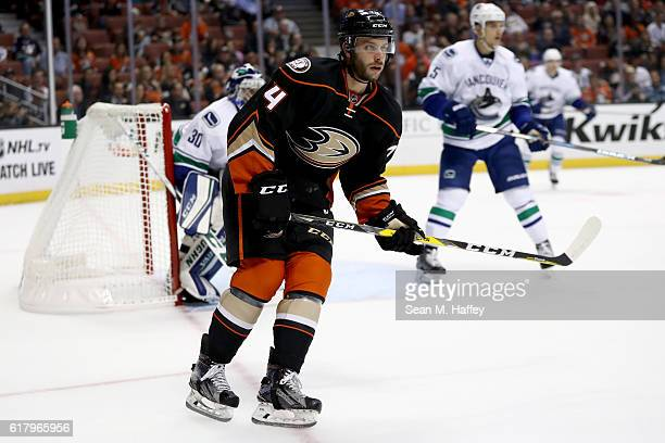 Joseph Cramarossa of the Anaheim Ducks skates during the first period of a game against the Vancouver Canucks at Honda Center on October 23 2016 in...