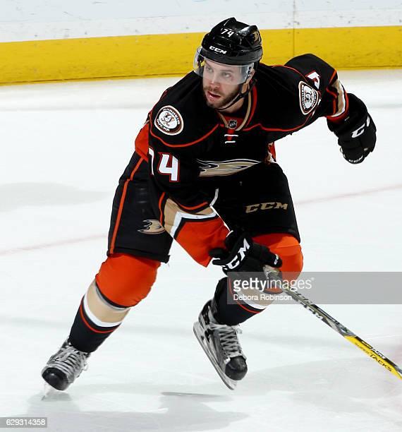 Joseph Cramarossa of the Anaheim Ducks skates during the game against the San Jose Sharks on December 9 2016 at Honda Center in Anaheim California