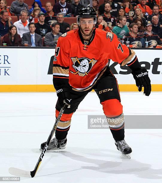 Joseph Cramarossa of the Anaheim Ducks skates during the game against the Dallas Stars on January 10 2017 at Honda Center in Anaheim California