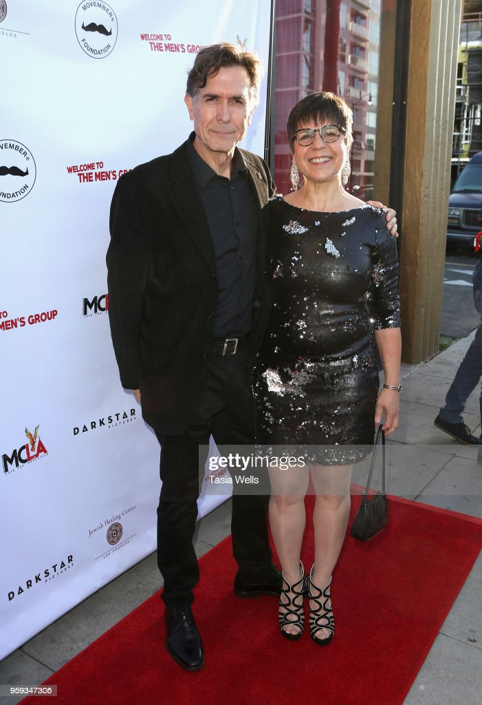Joseph Culp (L) and Ellen Burr attend the premiere of Dark Star Pictures' 'Welcome to the Men's Group' at Ahrya Fine Arts Theater on May 16, 2018 in Beverly Hills, California.