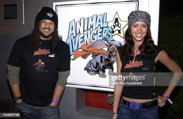 """Joseph D. Reitman & Shannon Elizabeth during """"Animal Avengers"""" Benefit Party - Arrivals at Key Club in Los Angeles, California, United States."""