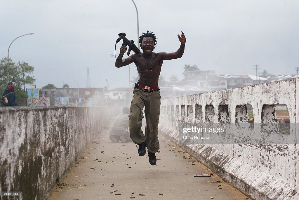 Liberian Government Troops Push Back Rebels : News Photo